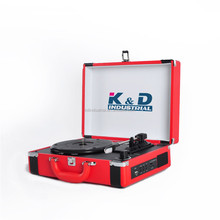 OEM Vinyl Player Red Portable Turntable with Bluetooth record player