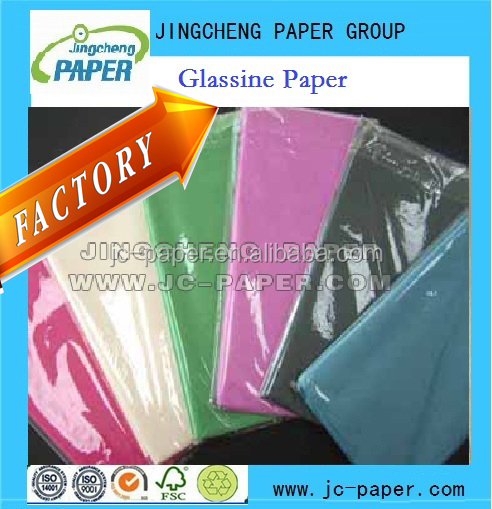 21g to 31g 40g 60g natural bleached white color glassine paper