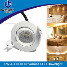 Driverless ac tech led dimmable led downlight 6W IP44 fire rated led downlight without driver