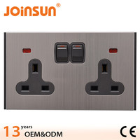 Long lifeime 2 gang uk wall socket outlet,dual motherboard socket 775