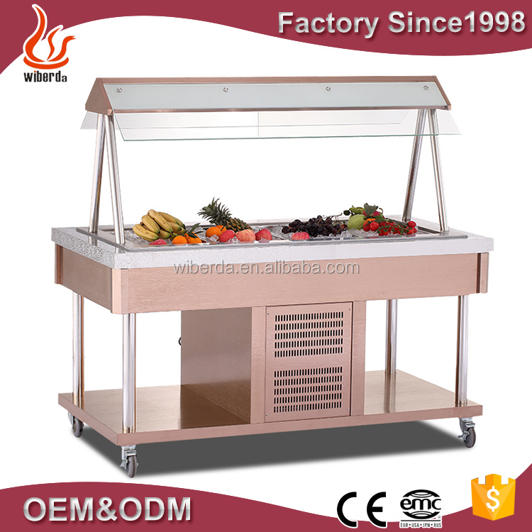 Service Counter Display Refrigerator Used as Salad Bar