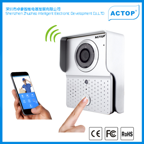 Hot sale best quality shenzhen factory wifi door mounted video camera support phone to opening door lock