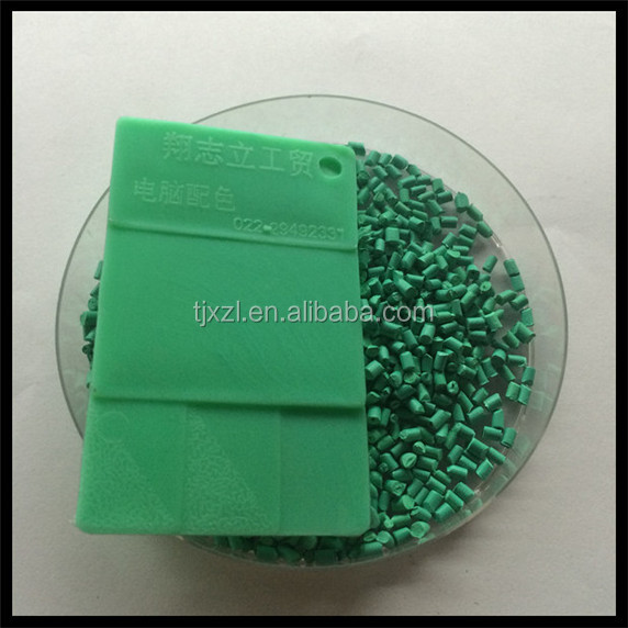 Chinese hot sale high quality plastic HDPE dark Green master batch for sheet and pipe.