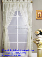 Lace window curtain set with rope tie backs