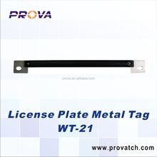 License plate Metal tag for vehicle tracking/Warehouse shelf management