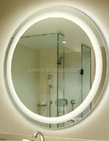 Salon cosmetic mirror with LED for bathroom cabinet vanity