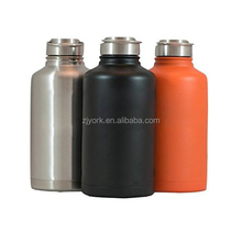 NEW metal cap 64oz double wall 304 stainless steel insulated growler/bottle hydro flask