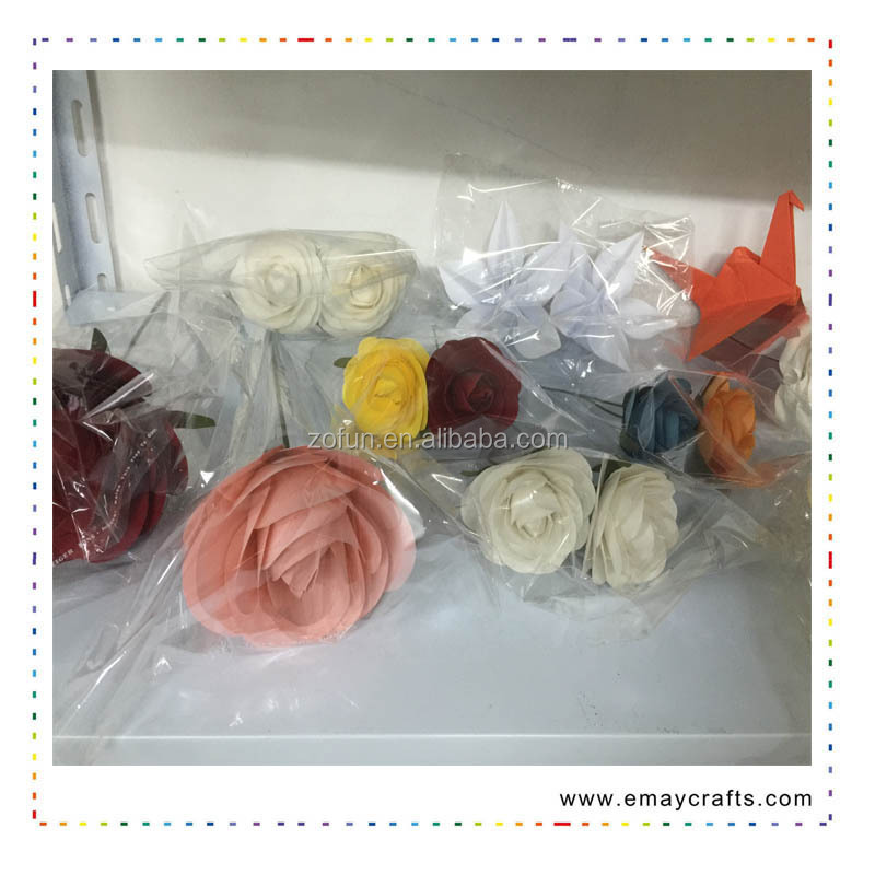 Popular flower make chinese 3d paper flowers