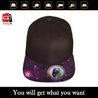 OEM high quality flat blank brim custom 100% cotton design your logo bulk plain snapback cap
