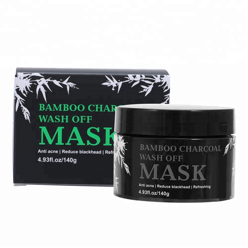Private Label Blackhead Remover Fack Mask Deep Cleansing Purifying Peel Off Black Face Bamboo Charcoal Mask