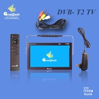 hot sale portable tv used in car/ mini tv with two colors