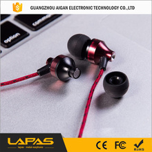 High end double moving coil stereo earphone for mobile phone