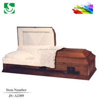 Chinese factory mahogany wooden casket bed