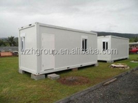 Construction site camp house container home for workers with galvanized painted frame
