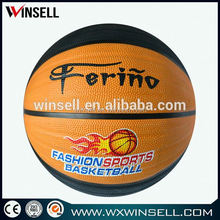 hot in bulk alibaba china all size brilliant rubber basketball