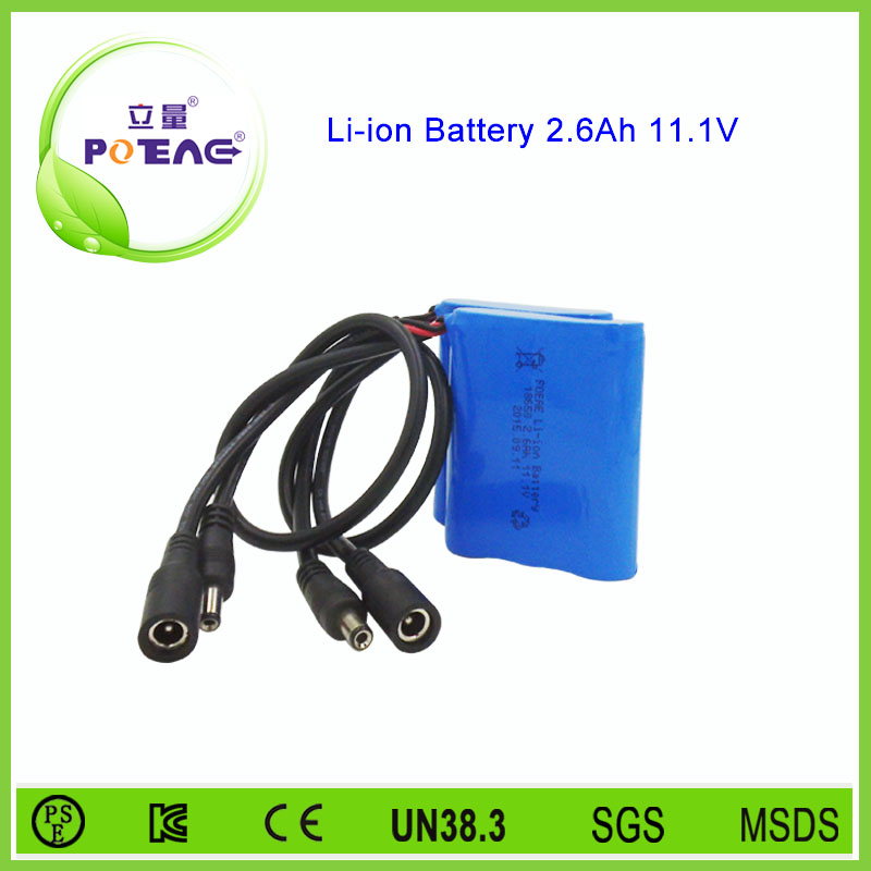 Japan cell composed 3S 12V 2600mah lithium ion battery