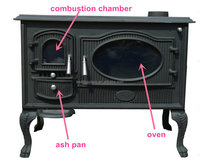 Cheap Wood Burning Cooking Oven Stove, Wood Burning Stove, Cooking Oven