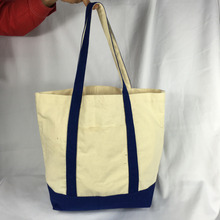 Wholesale Utility Two-Tone Custom Canvas Beach Tote Bags With Front Pocket