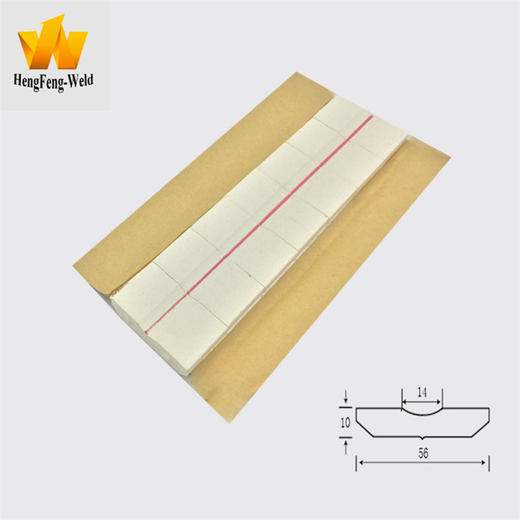 Waterproof ceramic backing material for welding
