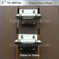 Stainless Steel Glass To Glass Adjustable Type Of Door Hinge