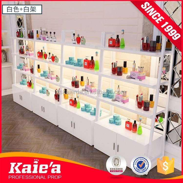 Customized Nice Design Cold Rolled Steel Gondola Single-sided Wall Convenient Store Display Shelf