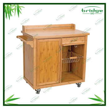 wood serving kitchen cart with cabinet buy wooden