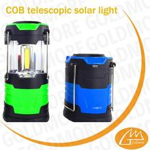 light weight COB solar led camp lantern for indoor