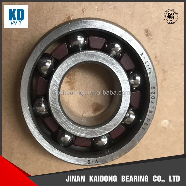 high quality Bakelite cage deep groove ball bearing 6203TB.P53 6203 size 17*40*12mm