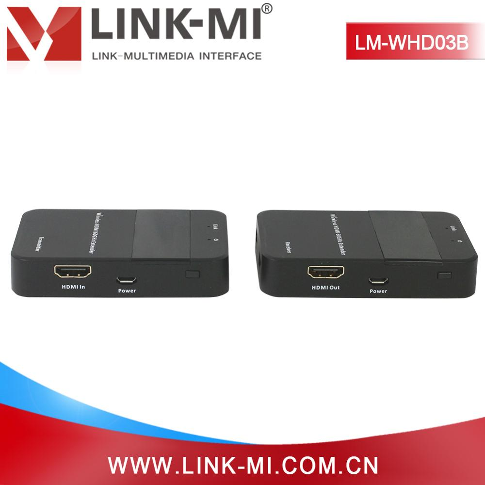 LINK-MI Brand HDMI Wireless Extender HDMI Sender & Receiver by Wireless supports resolutions up to 1080p Full HD,3DTV, CEC, 60G
