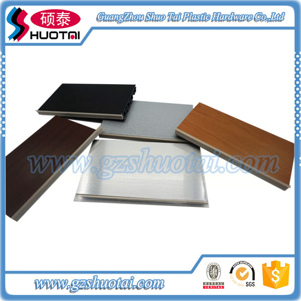 different designs of waterproof plastic skirting board covers for kitchen cabinet