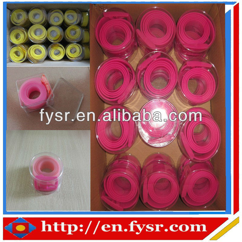 2016 fashion colorful silicone rubber belt