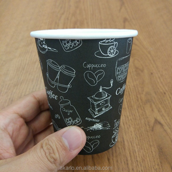 custom logo printed color coffee paper cup