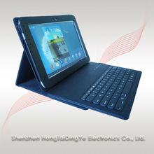 Leather Case+ABS Bluetooth Keyboard For samsung N8000 Bluetooth Keyboard