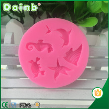 Doinb best price china factory supplier 3D ocean fish shaped fondant silicone molds for cake decorating baking tools ST2835