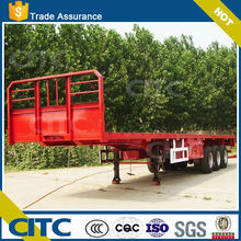Widely Used 3 Axles truck trailer/Flatbed Semi Trailer for sale