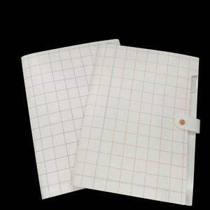 A4 size 8 pockets grid pattern plastic expanding file folder with snap button