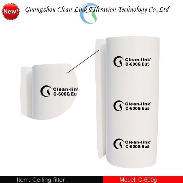 C-600G Synthetic fiber F5/EU5 air filter cotton for auto spray booth