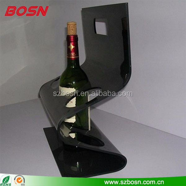 Factory customized acrylic wine bottle display storage rack for supermarket