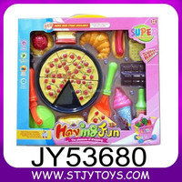 Funny pretend play food set cooking mini plastic pizza set toy food