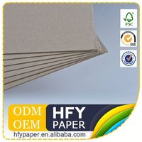 Direct Factory Price Personalized 1Mm 2Mm 3Mm Mm And Thickness Gsm Board Paper Grey