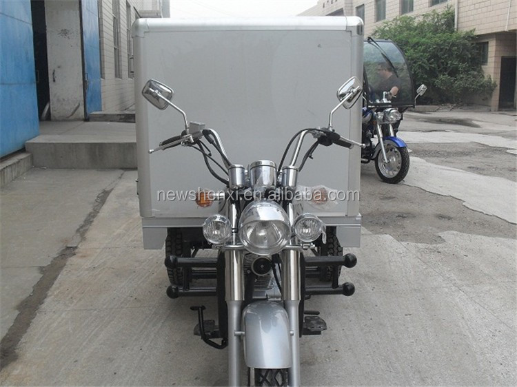 Big Power China Supplier Three Wheel Cargo Tricycle With Closed Food Truck For Sale