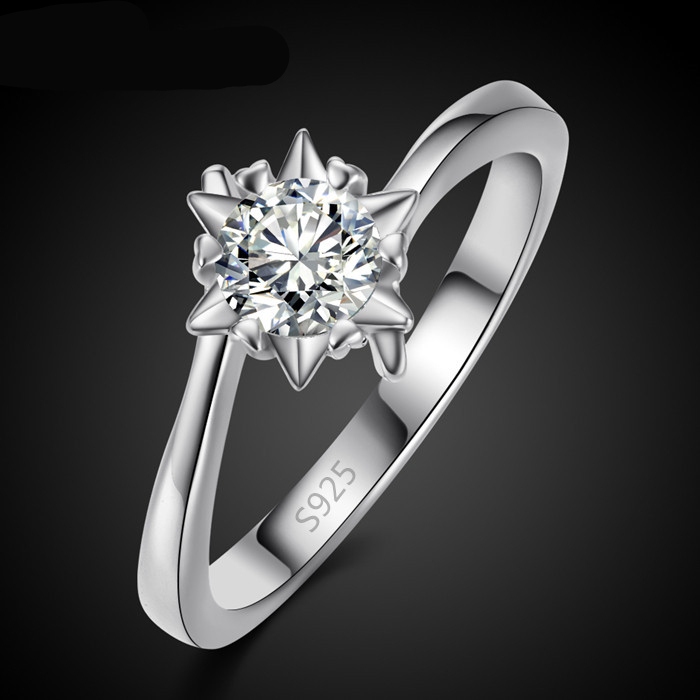 European creative high-quality platinum plated fashion zircon ring shape <strong>R015</strong>