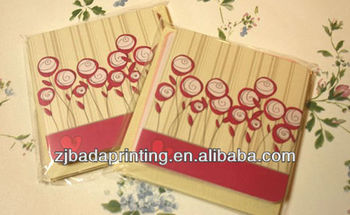 Customed Elegant Paper Greeting Cards