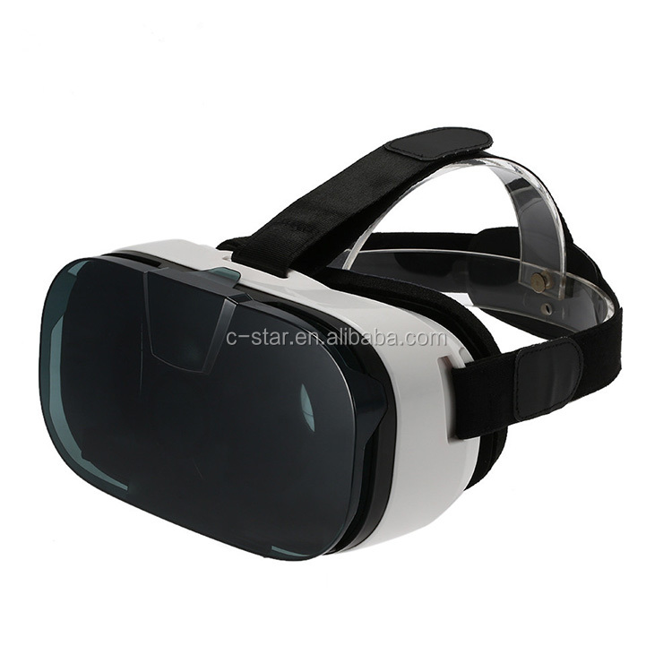 fashionable and typical model new vr 3d glass with head-mounted device for 3d movies