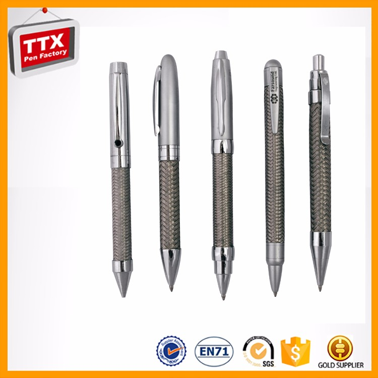 Promotional product stainless steel wire braid metal pen