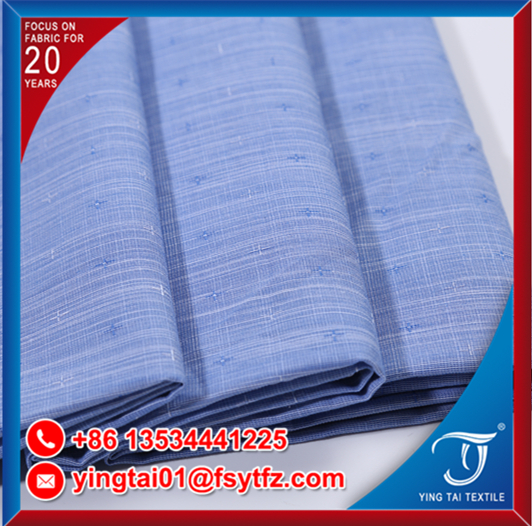 for white collar cotton dyed shirt plain pure color cotton fabric