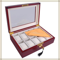 Luxury wooden watch box with glossy processing for man