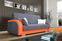 Sofa DALLAS sleep function and container for beeding