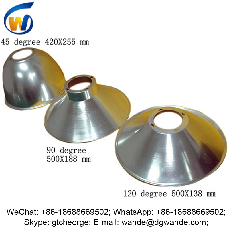 45 60 90 120 degree anodized aluminium reflector lamp shade