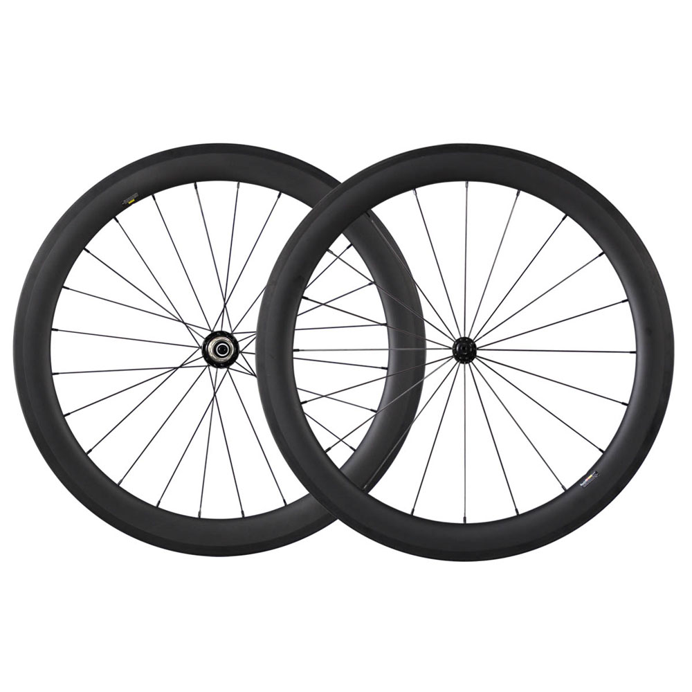 bikes 700c carbon fiber 56mm clincher tubeless ready 25mm width road bike wheels with R13 hub CN spokes